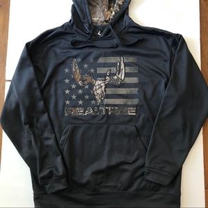 Realtree Hooded Pullover Black Size Large